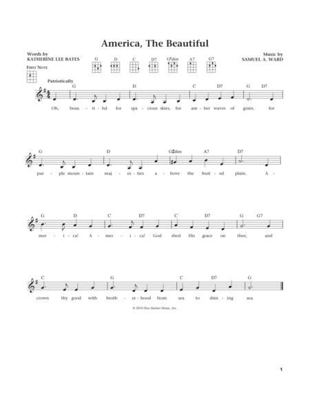 America, The Beautiful (from The Daily Ukulele) (arr. Liz and Jim Beloff)