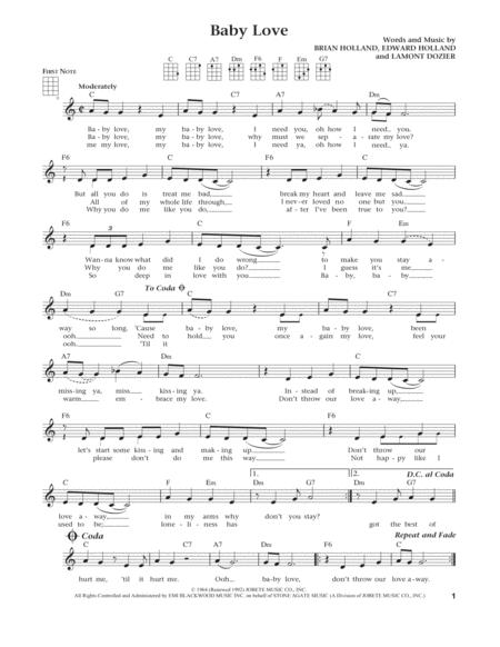 Baby Love (from The Daily Ukulele) (arr. Liz and Jim Beloff)