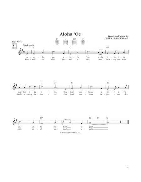Aloha Oe (from The Daily Ukulele) (arr. Liz and Jim Beloff)