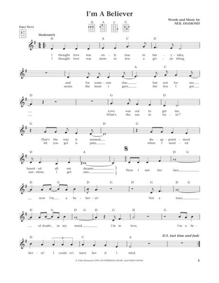 I'm A Believer (from The Daily Ukulele) (arr. Liz and Jim Beloff)