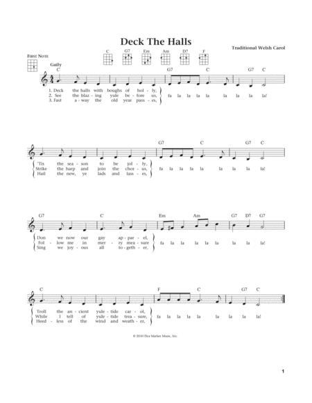Deck The Hall (from The Daily Ukulele) (arr. Liz and Jim Beloff)