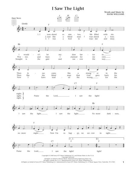 I Saw The Light (from The Daily Ukulele) (arr. Liz and Jim Beloff)