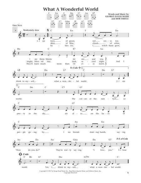 What A Wonderful World (from The Daily Ukulele) (arr. Liz and Jim Beloff)