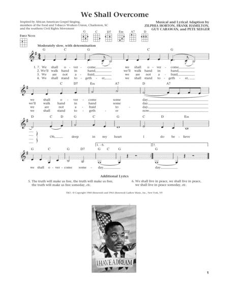 Download We Shall Overcome From The Daily Ukulele Arr Liz And