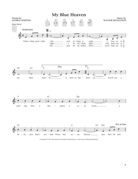 My Blue Heaven (from The Daily Ukulele) (arr. Liz and Jim Beloff)
