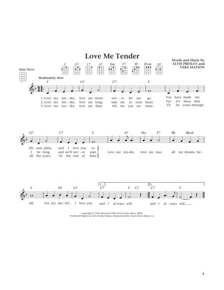 Love Me Tender (from The Daily Ukulele) (arr. Liz and Jim Beloff)