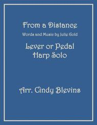 From A Distance, arranged for Lever or Pedal Harp