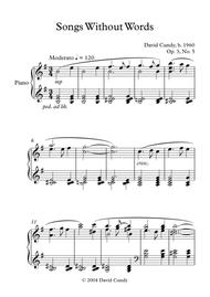 Songs without Words for solo Piano, Op. 3, No. 5