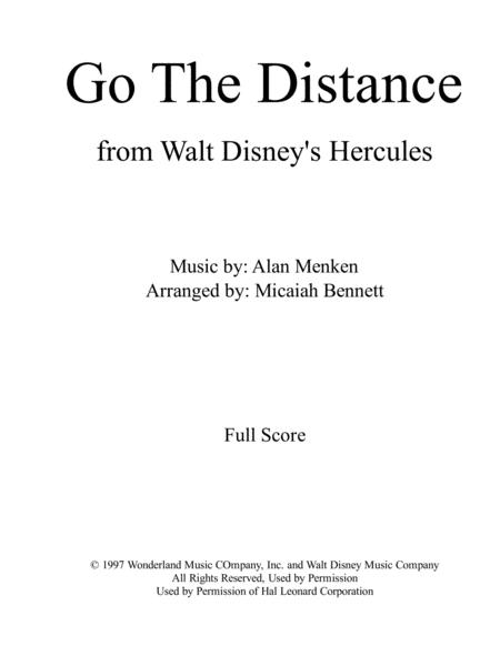 Go The Distance [for Orchestra 20 players]