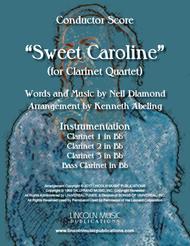 Sweet Caroline (for Clarinet Quartet)