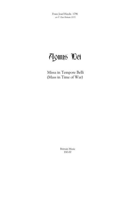 Agnus Dei from Mass in Time of War