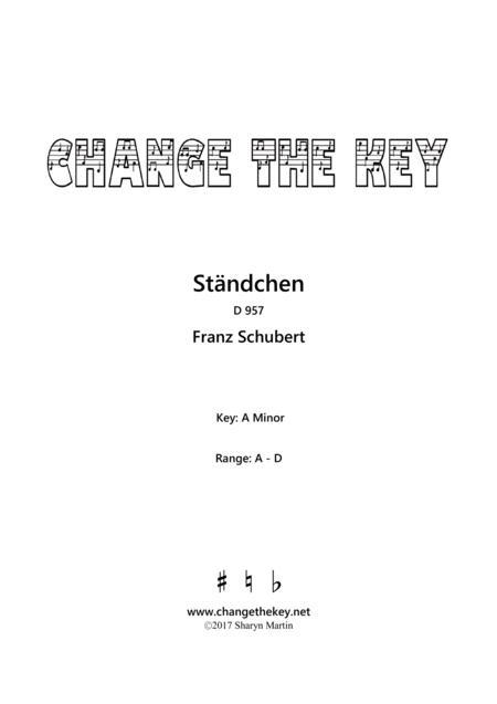 Standchen - A Minor