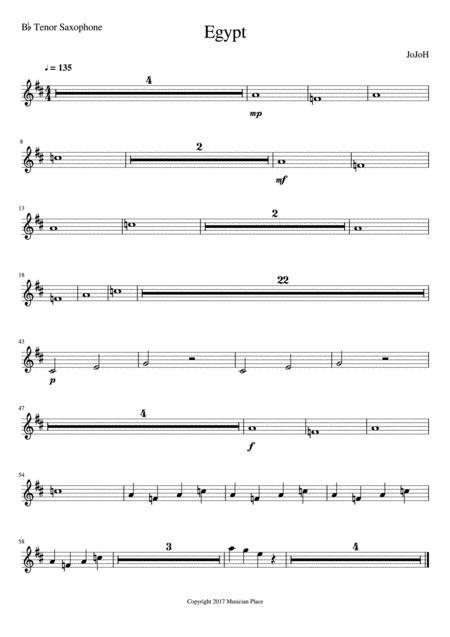 Egypt - Bb Tenor Saxophone