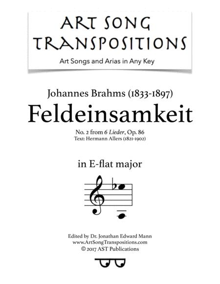 Feldeinsamkeit, Op. 86 no. 2 (E-flat major)