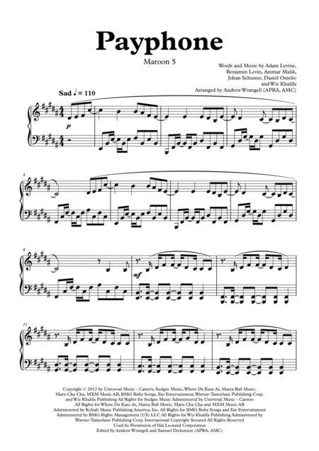 Payphone (Piano)