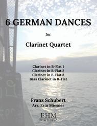 6 German Dances for Clarinet Quartet