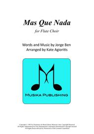 Mas Que Nada - for Flute Choir