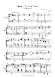 Piano Sonata  No. 1 Op. 9 - Full Score