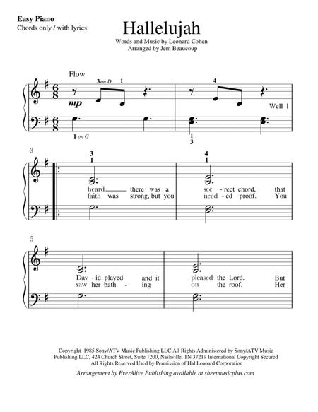 Download Hallelujah Lyrics With Chords Sheet Music By Leonard Cohen ...