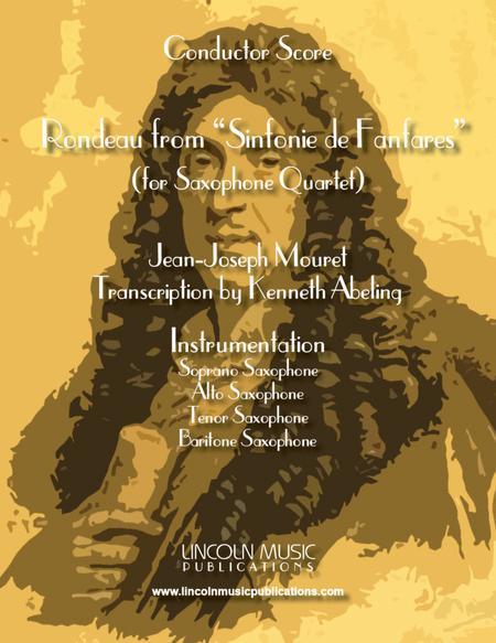 """Rondeau from """"Sinfonie de Fanfares"""" (for Saxophone Quartet SATB)"""