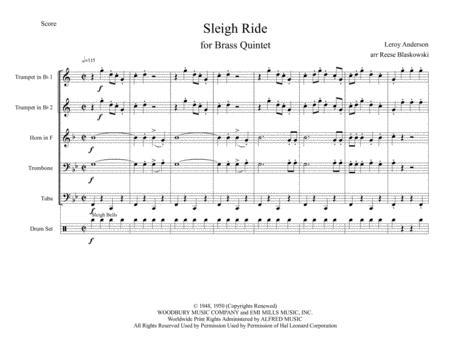Sleigh Ride - Brass Quintet