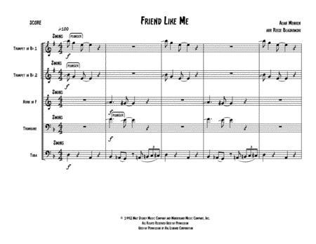 Friend Like Me - Brass Quintet