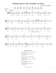 Nobody Knows The Trouble I've Seen (from The Daily Ukulele) (arr. Liz and Jim Beloff)
