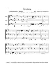 Something, by the Beatles - an arrangement for String Trio