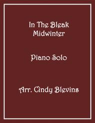 In the Bleak Midwinter, Piano Solo, from my book