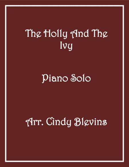 The Holly and the Ivy, Piano Solo, from my book