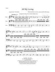 All My Loving - String Trio Arrangement