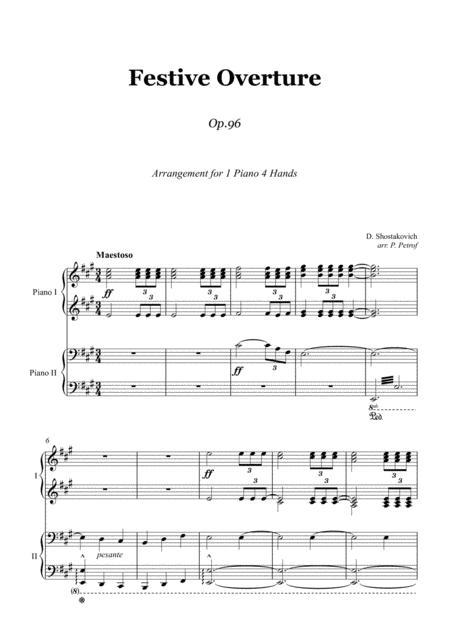 D. Shostakovich - Festive Overture - 1 piano 4 hands