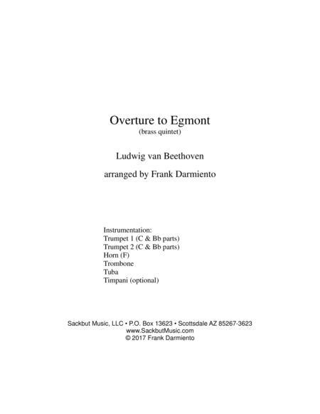 Egmont Overture (for brass quintet)
