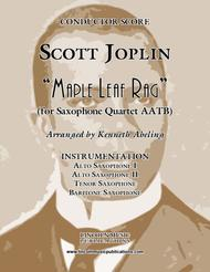 Joplin - Maple Leaf Rag (For Saxophone Quartet AATB)