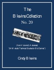 Advanced Clarinet Study, # 20, from The Blevins Collection, Melodic/Technical Studies for Bb Clarinet