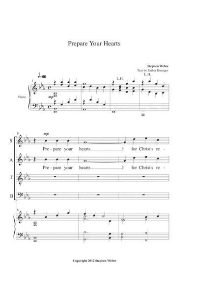 Prepare Your Hearts, for SATB and piano
