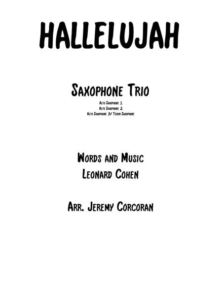 Hallelujah for Saxophone Trio