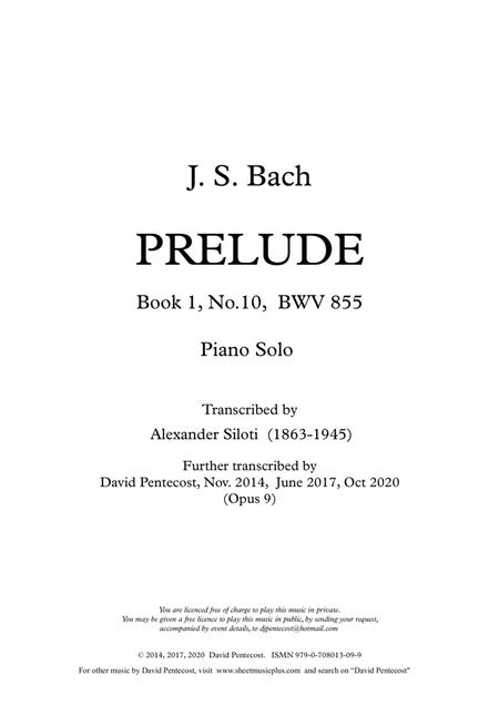 Prelude, BWV 855 (arr. Opus 9)