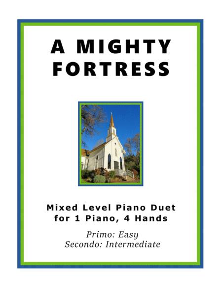 A Mighty Fortress (Easy Piano Duet; 1 Piano, 4 Hands)