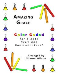 Amazing Grace for 8-note Bells and Boomwhackers® (with Color Coded Notes)