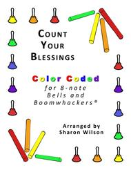 Count Your Blessings for 8-note Bells and Boomwhackers® (with Color Coded Notes)
