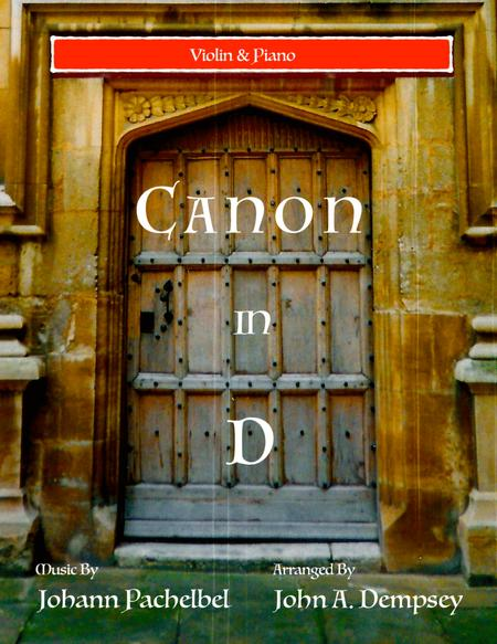 Canon in D (Violin and Piano)