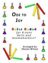 Ode to Joy for 8-note Bells and Boomwhackers® (with Color Coded Notes)