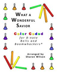 what a wonderful savior for 8-note bells and boomwhackers® (with color  coded notes) by elisha albright hoffman - digital sheet music for score,set  of parts - download & print s0.225813   sheet  sheet music plus