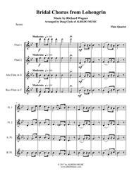 Wagner Bridal Chorus from Lohengrin for Flute Quartet