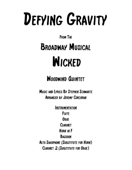 Defying Gravity for Woodwind Quintet