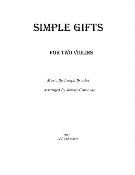 Simple Gifts for Two Violins