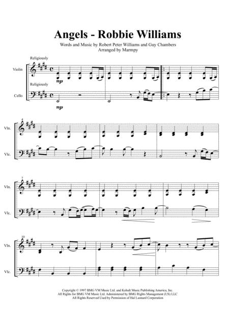 Angels - Robbie Williams (arranged for String Duet)