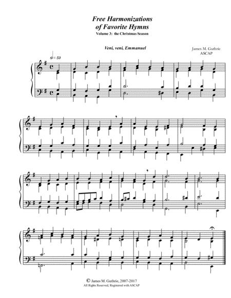 Guthrie: Harmonizations Vol. 3 - The Christmas Season