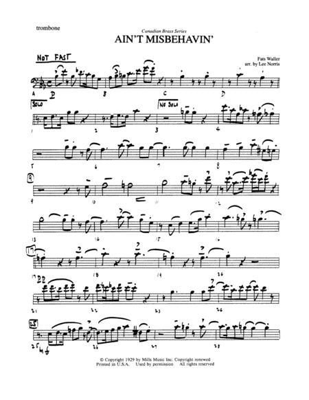 Ain't Misbehavin' - Trombone (B.C.)